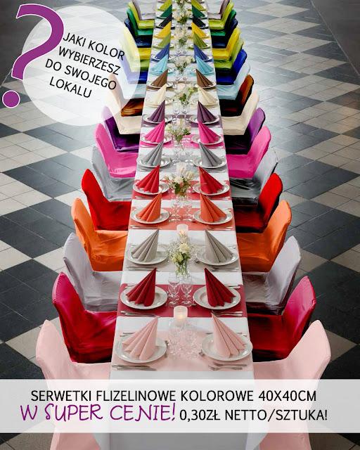 Serwetki flizelinowe kolorowe w MEGA PROMOCJI