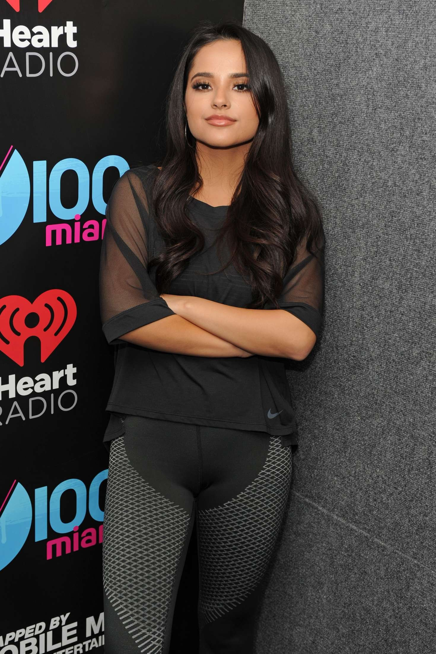 Becky G at The Miami's FM radio station Y100