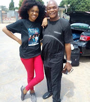 Image result for Omoni Oboli and dad
