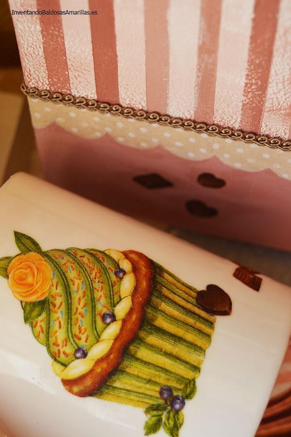 Servilletas con cupcakes para decorar