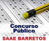 Logo Concurso Público SAAE Barretos de 2013