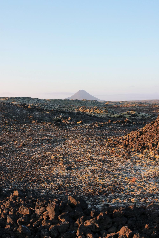 lava field, volcano iceland, mount keilir