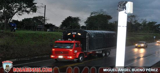 A tiros dañaron el 'polémico' foto-radar de la vía Chagualá   Rosarienses, Villa del Rosario