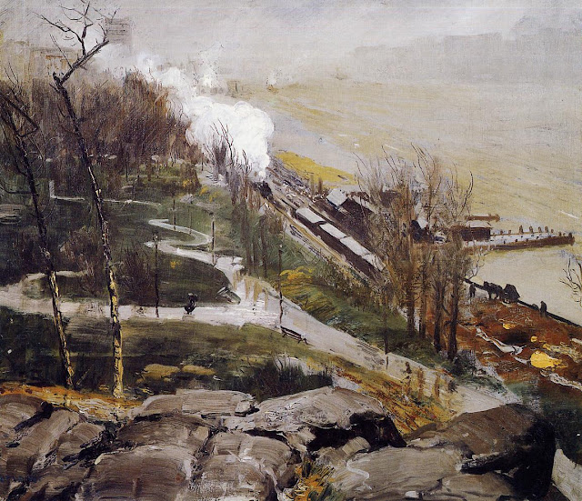 1908 Rain on the River
