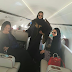 Daughters Of Indimi Jet Back To Nigeria In A Private Jet From Saudi Arabia