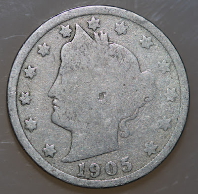 Obvere of 1905 Liberty Head Nickel
