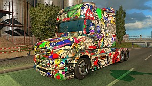 Scania T 2015 Sticker Bomb Skin
