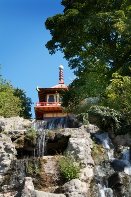 "Image ""Japanese Temple With Waterfall"" courtesy of Victor Habbick at www.freedigitalphotos.net"