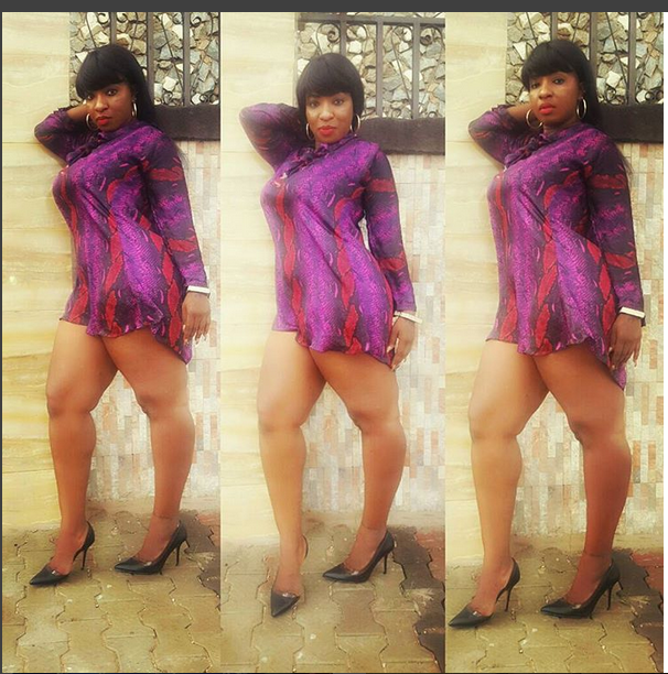 Very Sexy! Actress Anita Joseph Displays Her Massive Forward In This Flirtic Poses