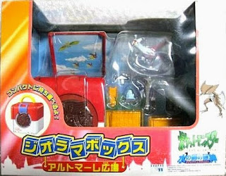 Latias figure in Tomy Diorama Box Alto Mare Square