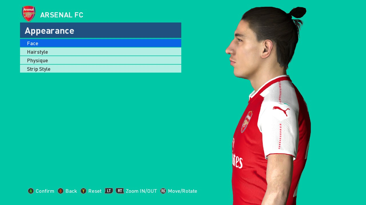 Pes Modif Pes 2017 Bellerin Face Update Fix By Ahmed