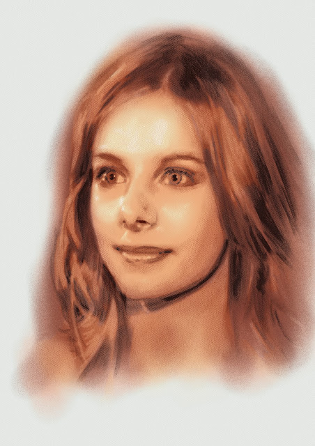 Digital portrait of Rachel Hurd-Wood