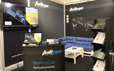 fullmo GmbH trade show booth with max GmbH axis demo