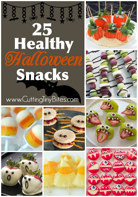 Healthy Halloween Snacks For Kids. Plenty of fruits and veggies!