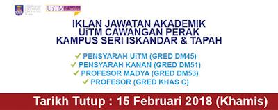 Jawatan Kosong Pensyarah Universiti Teknologi MARA (UiTM)