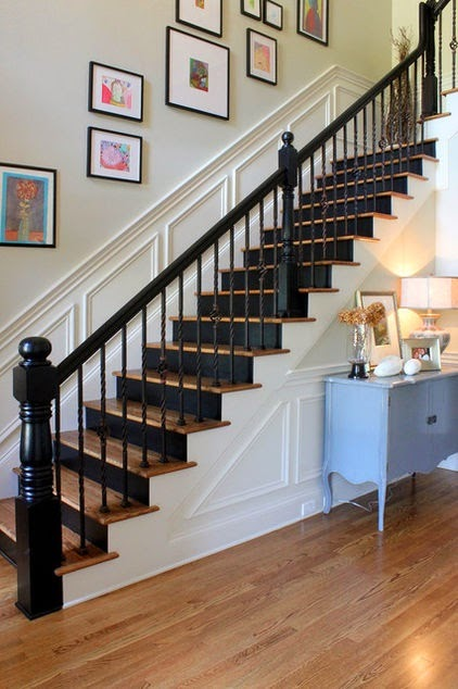 50 Creative Staircase Wall decorating ideas, art frames ... on Creative Staircase Wall Decorating Ideas  id=73049