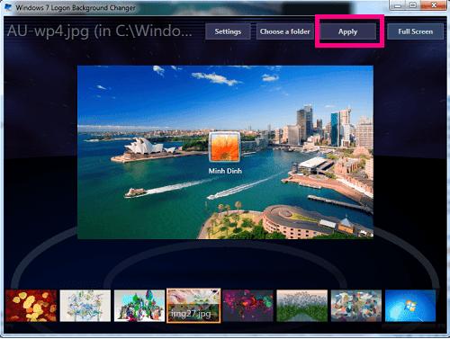 Cách thay đổi màn hình đăng nhập trên Win 7