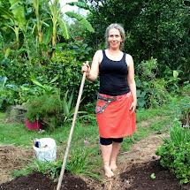 Barefoot Hippie Woman