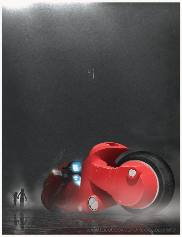 Akira Kaneda Bike by Nicolas Bannister, part of the Cult Car Series