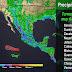 """SE FORMO """"GREG"""" . . . Se prevén tormentas muy fuertes en regiones del occidente, el sur y el sureste de México"""