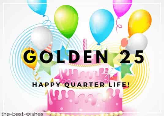 happy golden 25th birthday images
