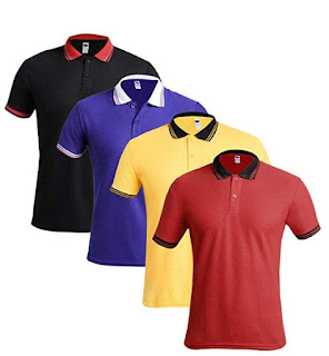 TSX Men's Solid Regular Fit Polo