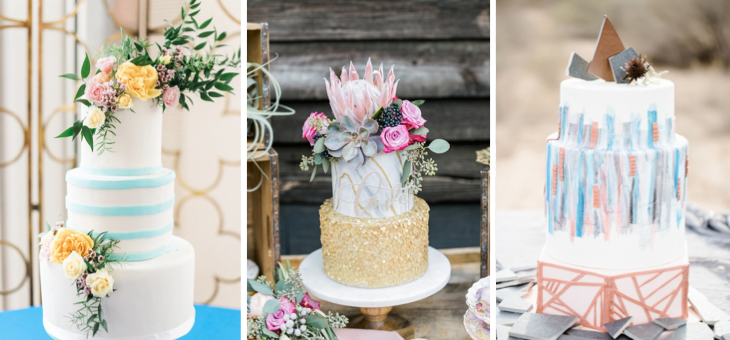 Best wedding cakes of 2016 the perfect palette the perfect palette ranging from boho to classic all the way to art deco inspired make no mistake about it were in wedding cake heaven over here junglespirit Image collections