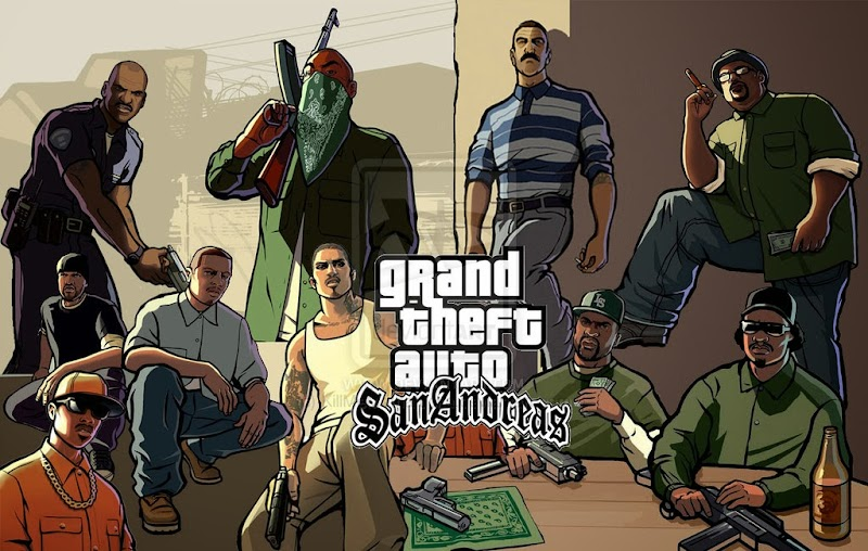 GTA San Andreas V1.08 APK + MOD + DATA Games For Android