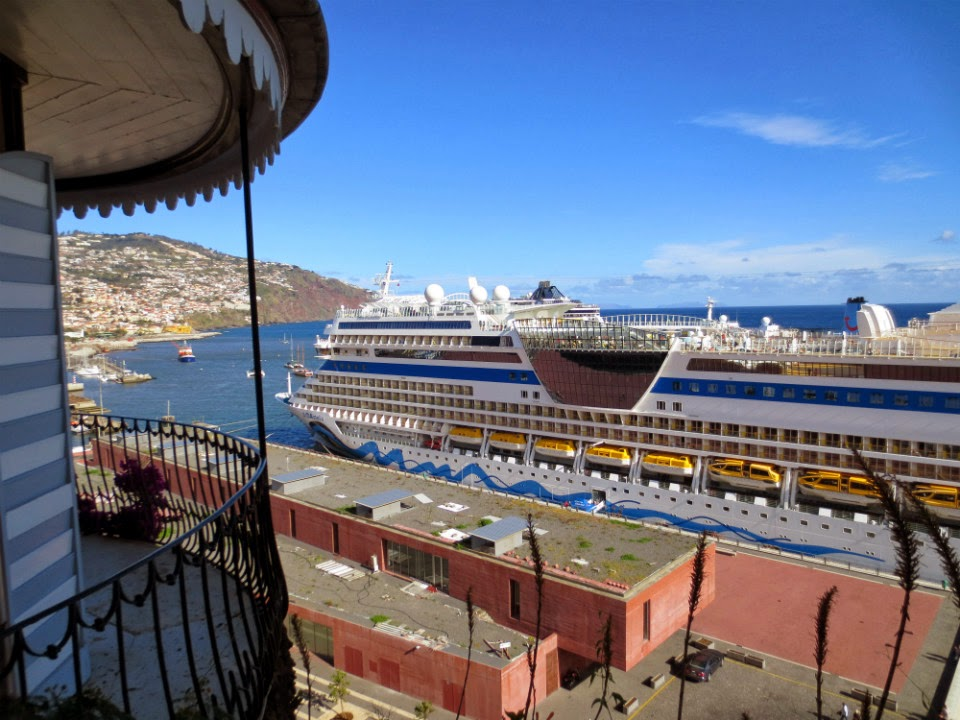 a great view of Funchal port and the city