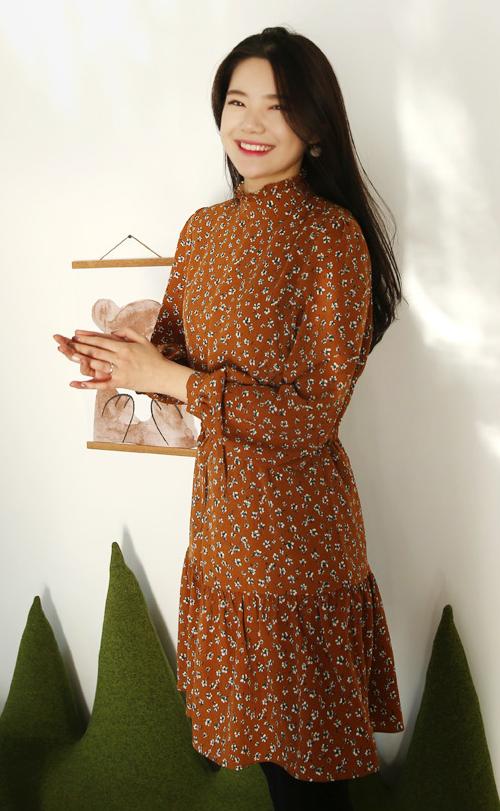 Floral Print Self-Tie Waist Dress