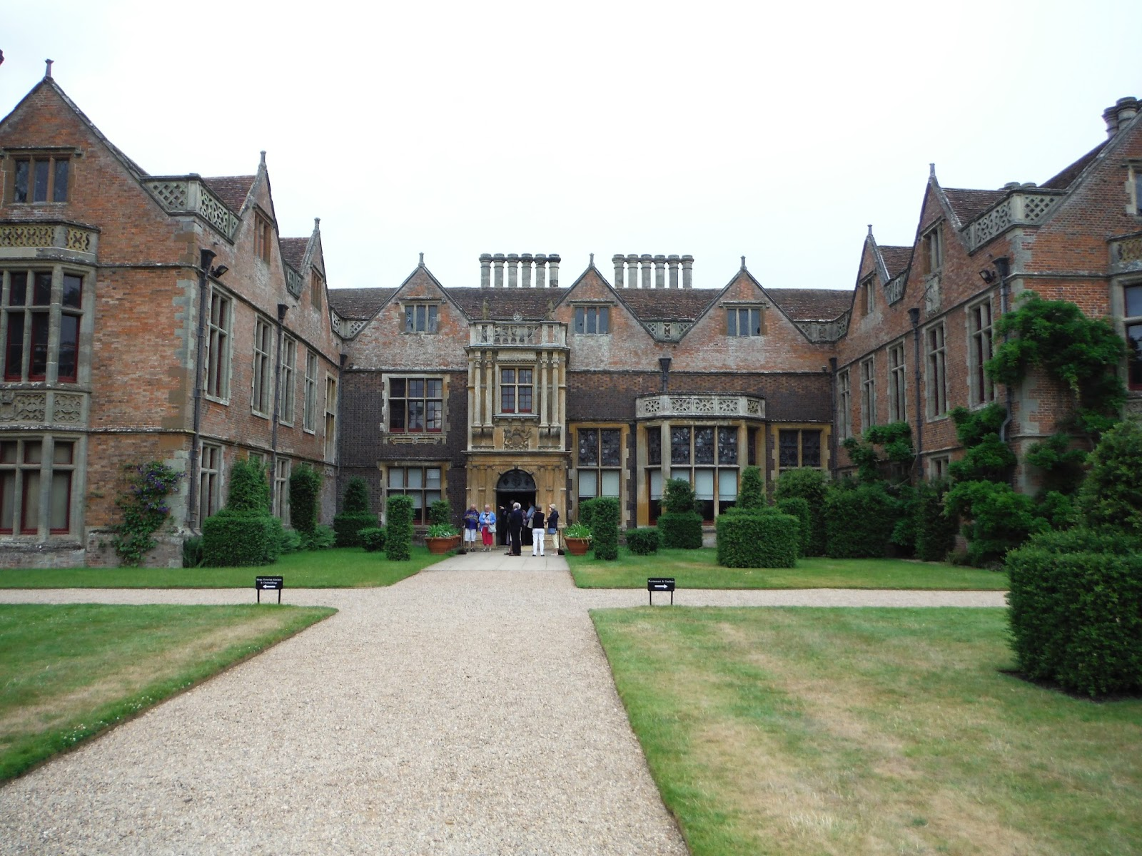 inside the courtyard to Charlecote Park
