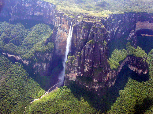 The tallest waterfall in the world is Angel Falls,Venezuela