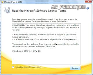 Instalasi Microsoft Office 2010 Tahap keempat