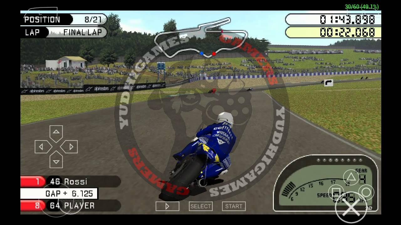 Download Game PSP MOTO GP [USA-ISO] + Save Data