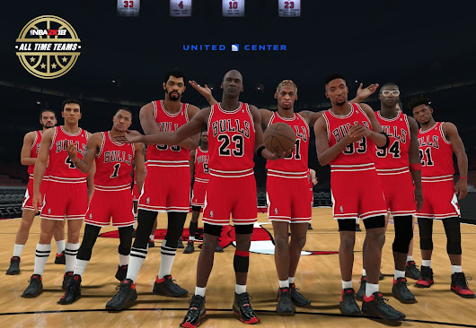 NBA 2k18 All-time Chicago Bulls Roster Screenshot