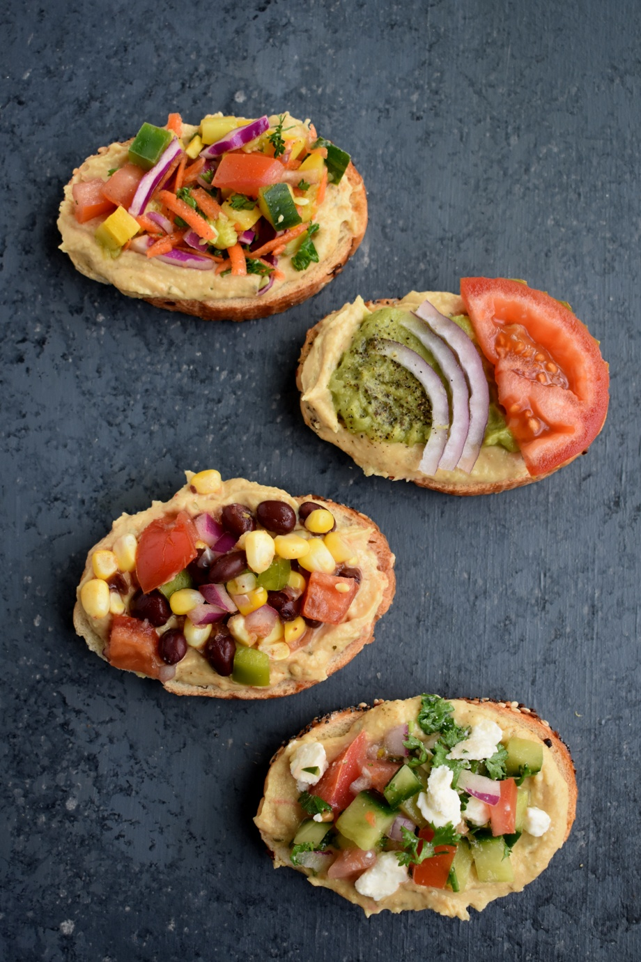Healthy Hummus Toast