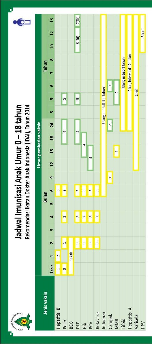 jadwal imunisasi menurut IDAI