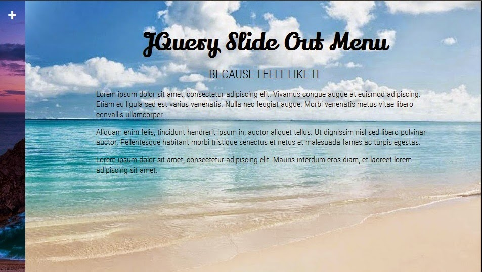Slide Out Menu With JQuery