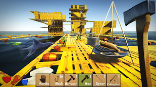 Raft Survival Simulator Apk offline simple craft