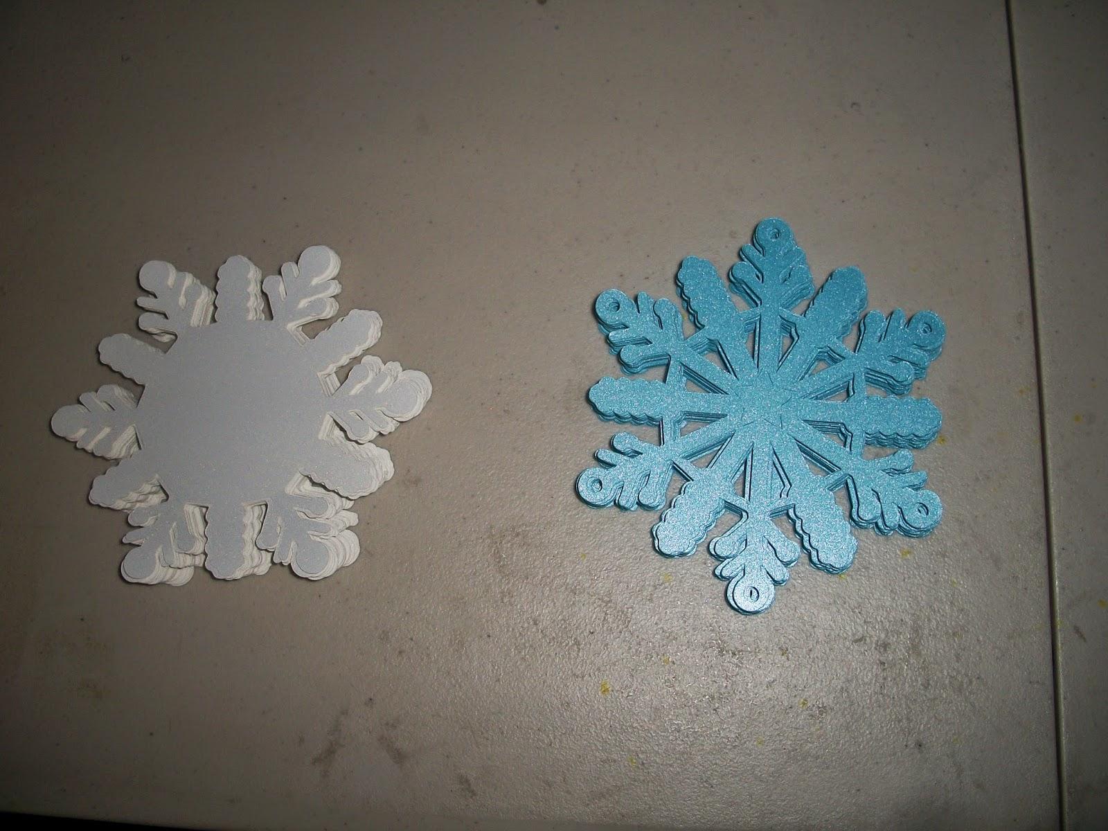 Cut snowflake shapes