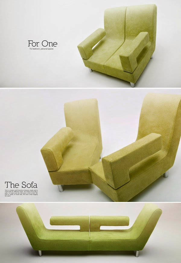 ... In Multi Seat, The Sofa Is Like Hugging The Users. This Will Fit To  Even A Small Space And You Can Transform It According To Your Need. [Link]