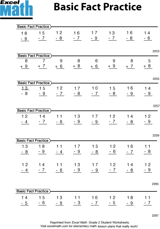 Math Worksheet Grade 2 – Excel Math Worksheets