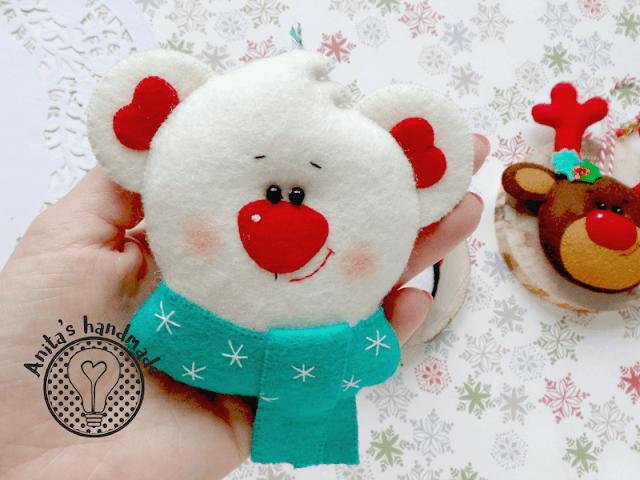 filc, felt, fieltro, feltro, świąteczne ozdoby, swiateczne ozdoby, ozdoby choinkowe, swiateczne dekoracje, zawieszki na choinke, christmas, christmas decorations, święta, swieta, boze nardzoenie, Boże Narodzenie, natal, pingwin, renifer, niedźwiadek, niedzwiadek, bear, penguin, reindeer, cute, felt craft, handmade, anitashandmade, rękodzieło, rekodzielo, rekodzielo z filcu, christmas is coming,  na zamowienie, filcowe ozodby na zamowienie