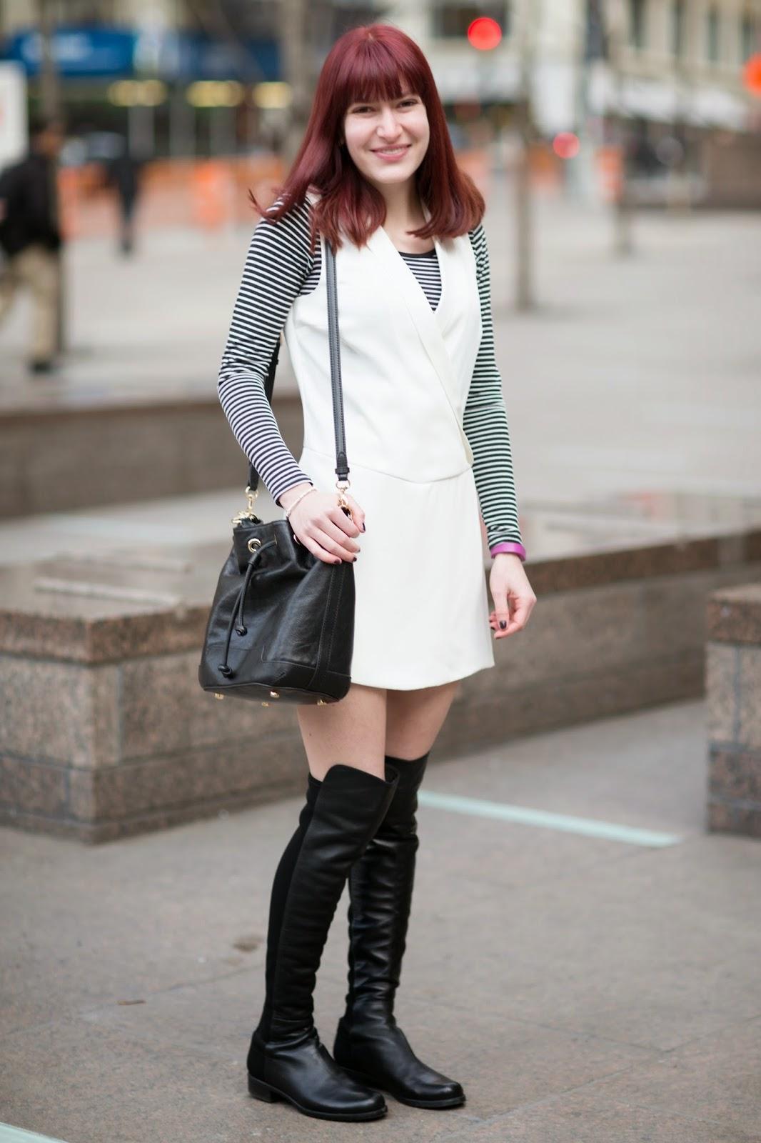rebecca minkoff fiona bucket bag, stuart weitzman 5050, teen vogue fashion u, Teen vogue fashion university, topshop tux romper,