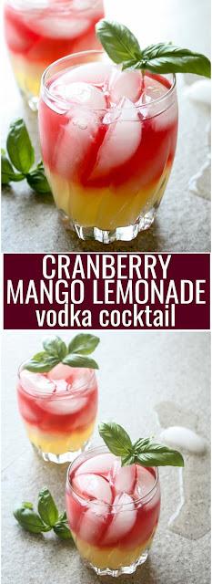 Cranberry and Mango Lemonade Vodka Cocktail