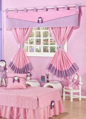 cortina de quarto de menina