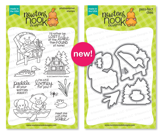 Winston's Lake House Stamp Set & Die Set by Newton's Nook Designs #newtonsnook
