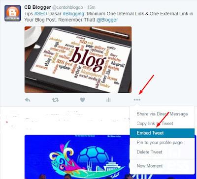 Cara Memasang Status Twitter di Posting Blog