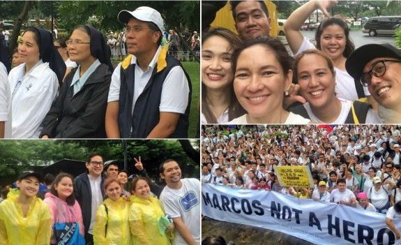 Mar Roxa, Kiko Pangilinan And Risa Hontiveros Joined The Protest In Luneta Against The Hero Burial Of Marcos!