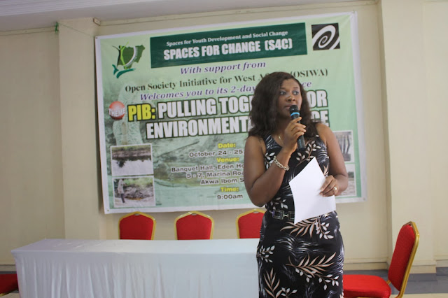 Executive Director's address at the 2-day Conference, PIB: Pulling Together for Environmental Justice